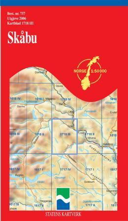skåbu kart Skåbu (Kart, falset)   Turkart | Hobbyklubben skåbu kart