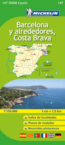 Barcelona y Alreded. Costa Brava MI 147 av Michelin (Kart, falset)